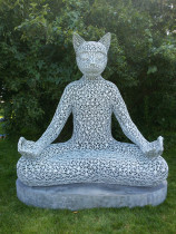 Медитирующий кот Тихвами